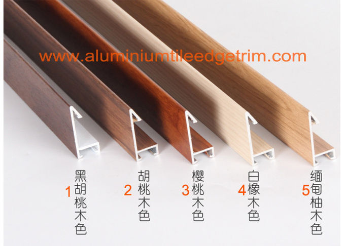wood effect aluminium picture frame profiles